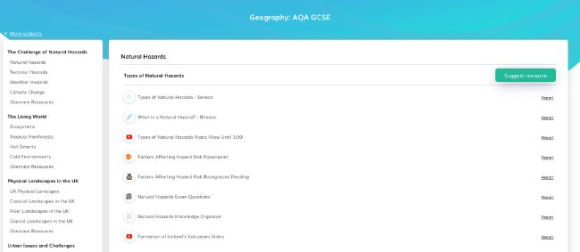 Free Geography Teaching Resources