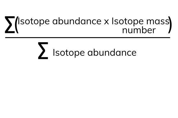 Calculating relative atomic masses (Ar)