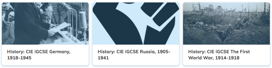 History Revision Cambridge iGCSE Courses
