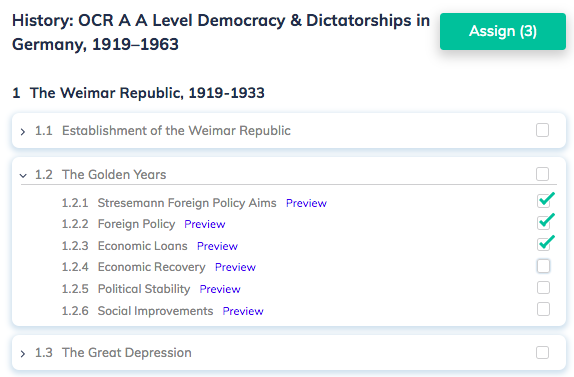 History: OCR A A Level Democracy & Dictatorships in Germany, 1919–1963