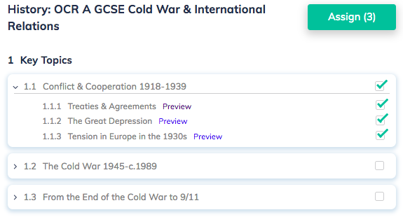 History: OCR A GCSE Cold War & International Relations