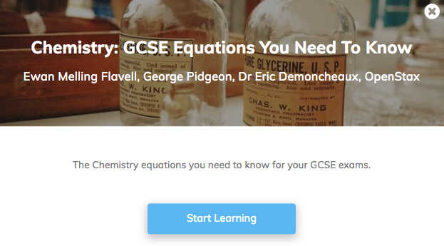 Chemistry Equations Revision GCSE