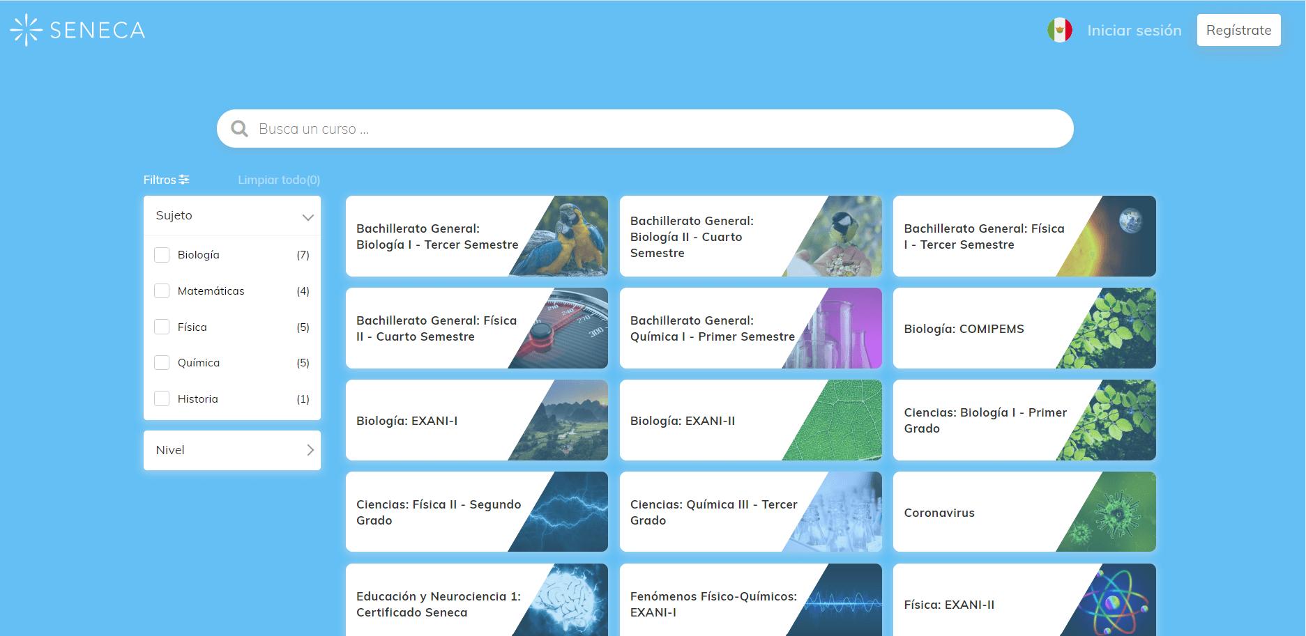 Lista de contenidos y actividades gratis ofrecidas gratuitamente por la plataforma online Seneca, para Secundaria, Preparatoria, COMIPEMS y EXANI. Sigue los planes de estudio nacionales.